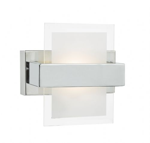 Apt Wall Light Polished Chrome Opal And Clear Glass Led